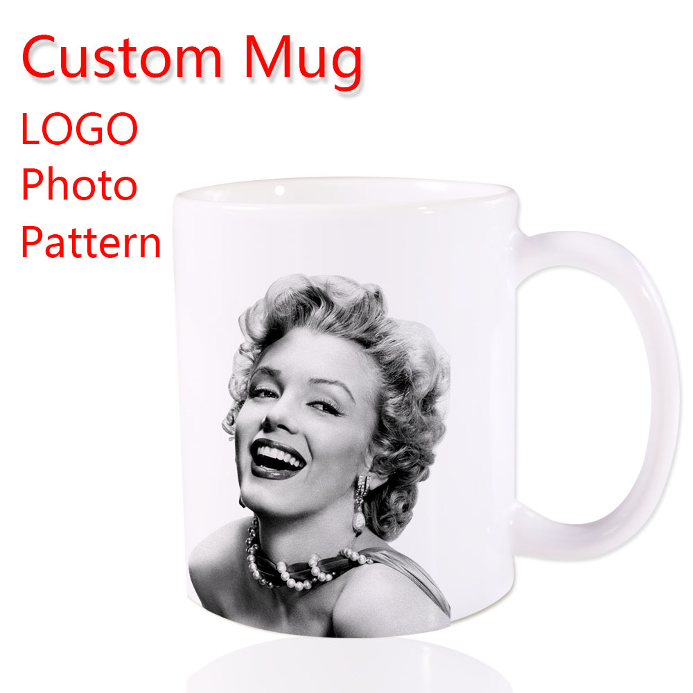 Your own unique picture Logo Custom Made Coffee Mug Novel Mugs Color Ceramic Cup Water Office Beer Cups 11 OZ Two Sides Printed