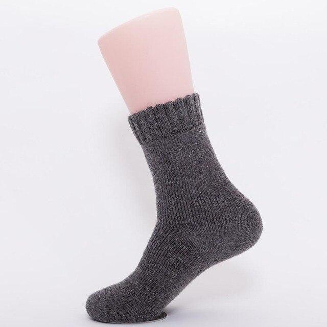 106e179879c US $4.0 40% OFF|1 paar Nieuwe Hot Mannen Winter En Herfst Warme Wollen  Sokken Mode Vrouwen Dikke Thermische Sokken Casual Solid Sokken Calcetines  ...