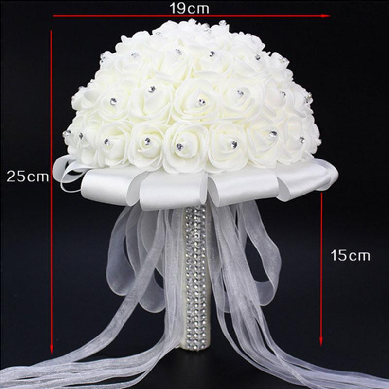 Elegante Ramo de novia Accesorios Bridesmaid Artifical Flower Party - Para fiestas y celebraciones - foto 5