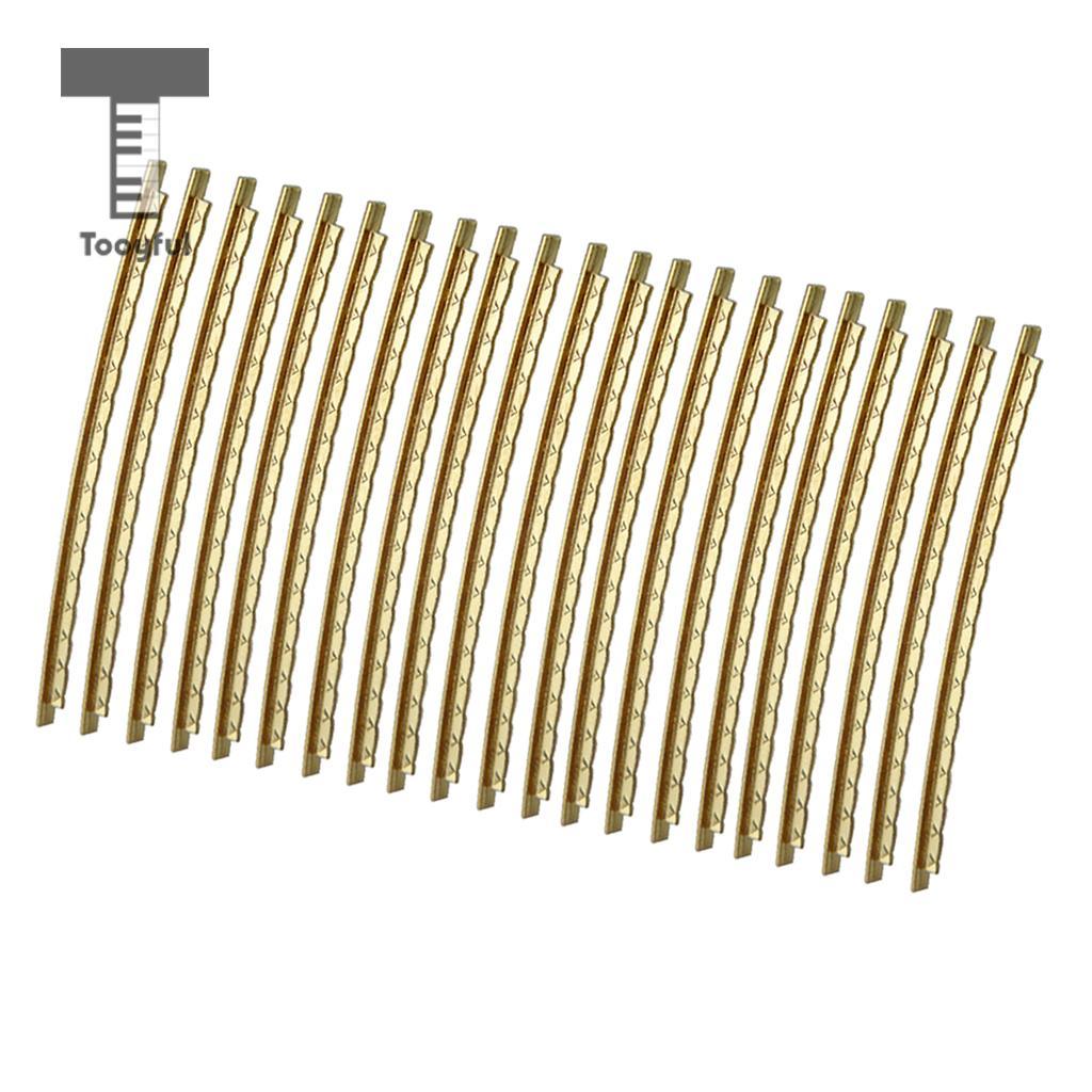 Tooyful 21Pc Brass Frets Wire Fretwire 2.0mm Guitar Part For Folk/Acoustic Guitar