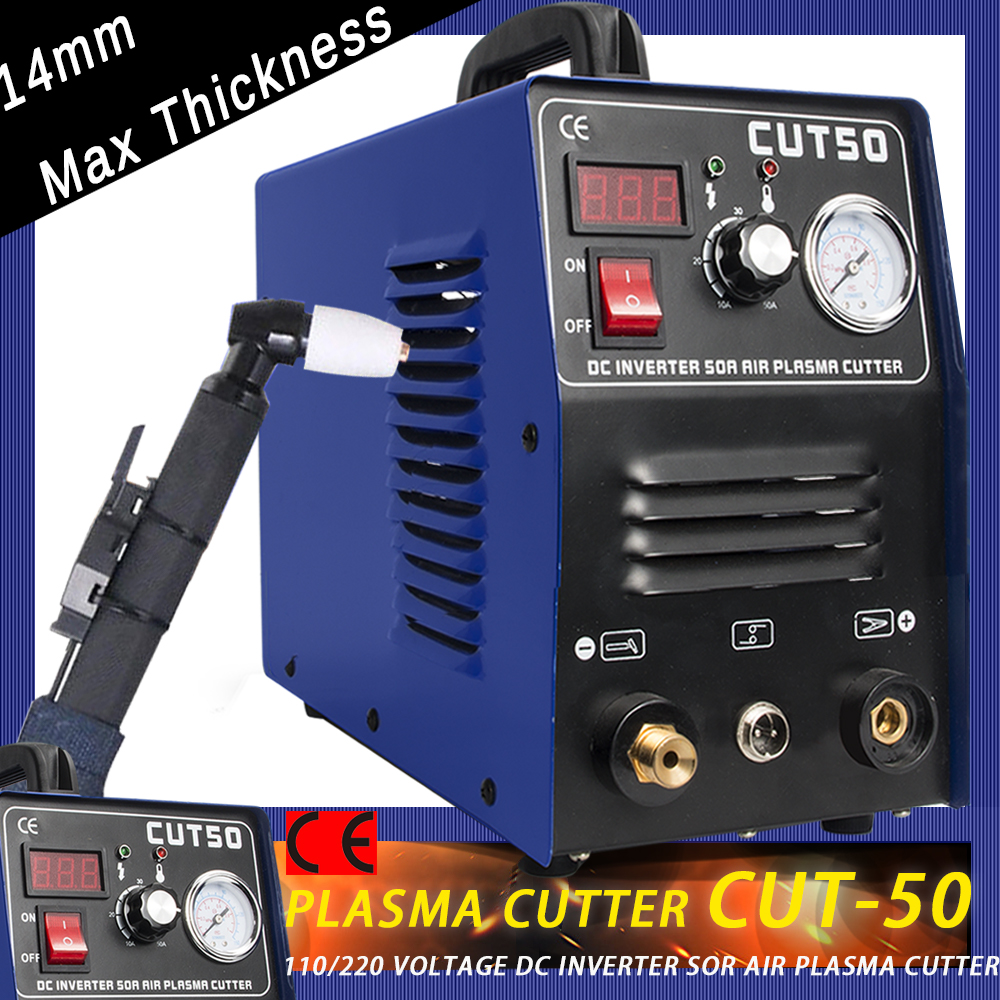 PLASMA CUTTER TOSENSE  50A 110V/220V HF Start CUT50 Protable14mm+ PT31 Torch Consumables