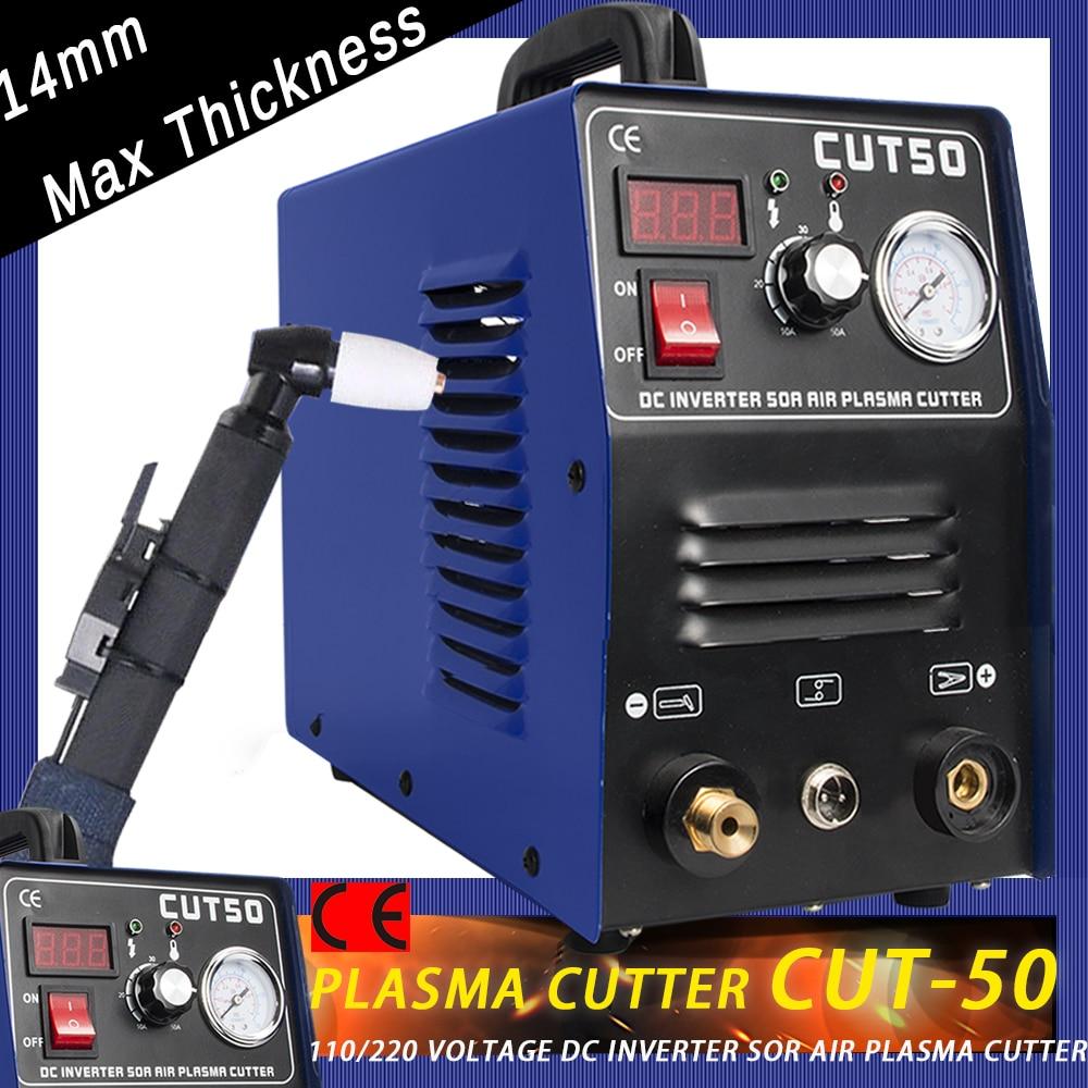 DC Plasma Metal Cutter Machine 50A 110V Inverter Air Cutting Machine 14mm Cut