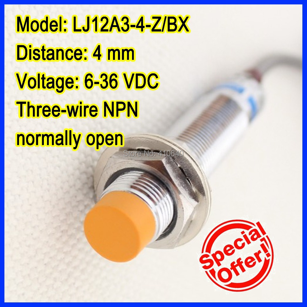 Genuine Lj12a3 4 Z Bx 4mm Inductive Proximity Switch Three Wire Npn Prox Wiring Diagram Normally Open