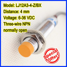 Free shipping!  GENUINE OMKQN brand LJ12A3-4-Z/BX 4mm inductive proximity switch three-wire NPN normally open все цены