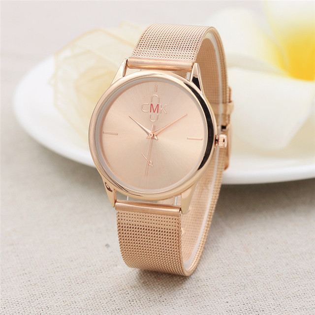 Gold Black Mesh Stainless Steel Watches Women Top Brand Luxury Casual Clock Ladi