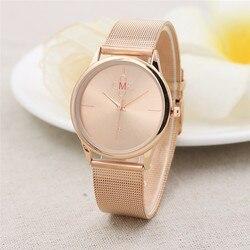Ouro preto malha relógios de aço inoxidável feminino marca superior luxo relógio casual senhoras relógio de pulso relogio feminino #4m10
