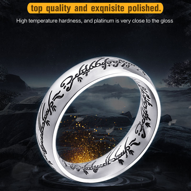 2018 high quality Stainless Steel One Ring of Hobbit the Lord of One Women Men R