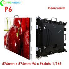 Coreman shenzhen p6 Крытый светодиодный экран 576x576 мм арендный шкаф полноцветный для помещений светодиодный экран p3 p4 p5 p6 p10