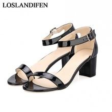 2018 New High Heels Sandals For Women Summer Square Heels Open Toe Office Lady Sandals Pumps Sandal Shoes NLK-B0155 цены