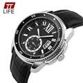 Relojes Hombres Lujo de la Marca TTLIFE Moda Casual Sport Reloj de Cuarzo de Los Hombres A Prueba de agua 30 M relojes hombre relojes de Pulsera de Cuero 2016