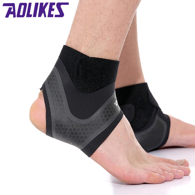 AOLIKES 1PCS compression foot Movement Ankle Support Running Cycle  Basketball Sports Socks Outdoor Women Men Ankle Brace 752fca0beb
