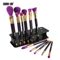 MAANGE 15 Holes Makeup Brush Plastic Handle Removable Portable Holder Display Storage Showing Shelf Drying Cosmetics Salon Tool