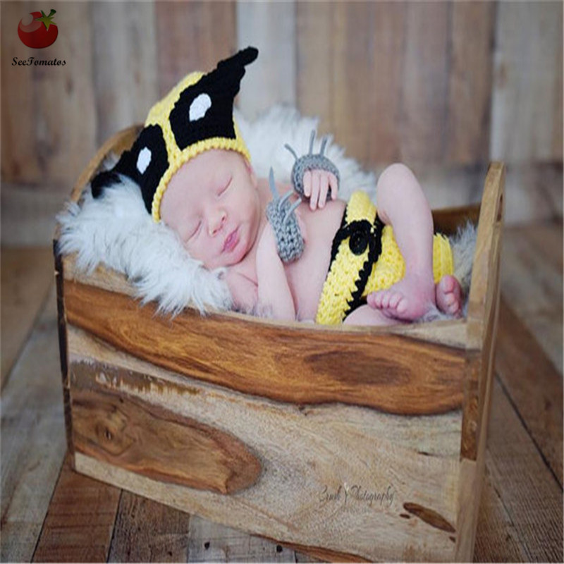 Newborn Photography Props Diaper Cover For Baby Boys Fotografia Knitted Newborn Superhero Costume Photography Props