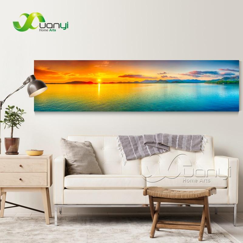 Zalazak sunca More Seascape Canvas Slikarstvo Cuadros Kućni ukras - Kućni dekor - Foto 3