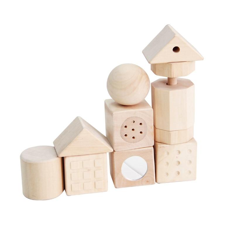 נאטרואל עץ אבני הבניין צעצועים ילדים - צעצועים בנייה