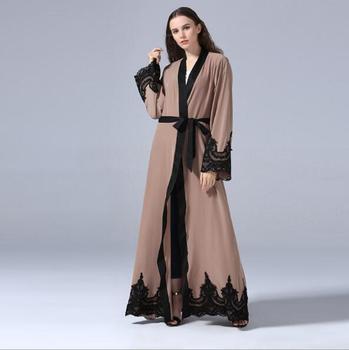Kimono Lungo In Pizzo | Abaya Musulmano Del Merletto Cardigan Kimono Maxi Vestito Lungo Veste Abiti Allentato Tunica Servizio Di Culto Musulmane Medio Oriente Islamico Abbigliamento