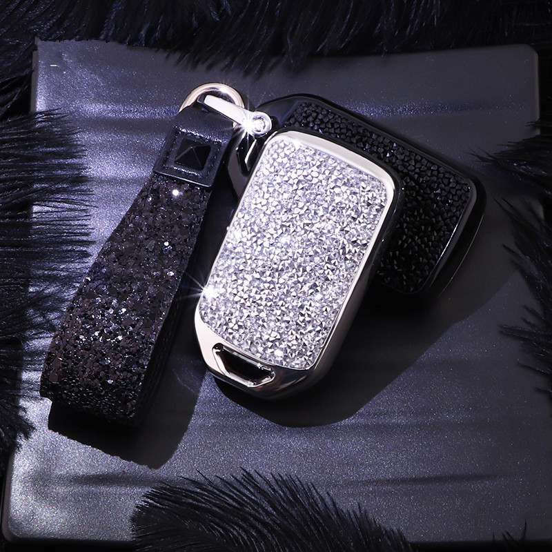 Image 4 - Artificial Crystal key case cover Key case protective shell holder for Honda Vezel city civic Jazz BRV BR V HRV Girl lady gift-in Key Case for Car from Automobiles & Motorcycles