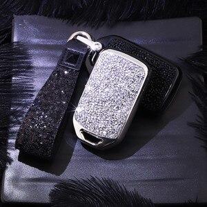 Image 4 - מלאכותי קריסטל מפתח case כיסוי מפתח מקרה מגן פגז מחזיק עבור הונדה Vezel העיר סיוויק ג אז BRV BR V HRV ילדה גברת מתנה