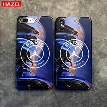 Купить с кэшбэком Basketball fly man Jordan soft silicon cover case for iphone 6 6Plus 6S 7 7plus 8 8Plus 10 X XR XS Max Paris Jersey phone coque