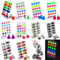 12Pairs Mix Letters Triangle Earring Star Heart Luminous Earrings Ear Studs Chic Mens Women Punk Jewelry Wholesale Lots