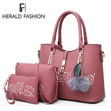 Herald Fashion 3pcs Leather Bags Handbags Women Famous Brand Shoulder Bag Female Casual Tote Women Messenger Bag Bolsas Feminina-in Top-Handle Bags from Luggage & Bags on Aliexpress.com | Alibaba Group