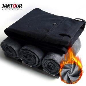 Image 5 - 2020 Mens Winter Fleece warm Pants men Korean Casual Slacks Slim Warm thick Pants for men fashion Black gray Trousers male