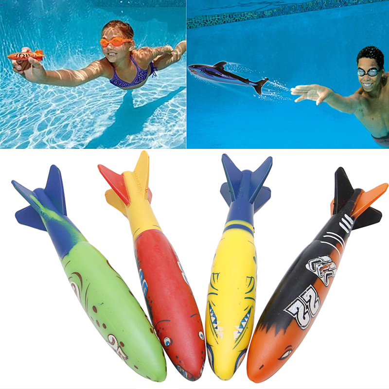 4 Pieces Swimming Pool Toys Diving Sport Outdoor Toypedo Bandits Play Water Fun in Toy Sports from Toys Hobbies