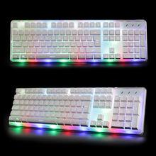 104 Keys RX-8 Rainbow LED Backlit Ergonomic illuminated Gaming Keyboard Wired Usb Multimedia Backlight Keyboard Gamer Laptop New