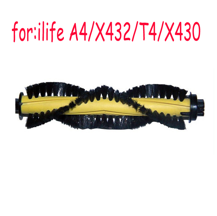 1pcs Main Brush for ILIFE A4 Robot Vacuum Cleaner Parts Replacement chuwi ilife a4 T4 X432 X430