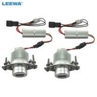 LEEWA White Car 10W LED Marker Angel Eyes Headlight DRL No Error LED Light For BMW E90/E91 LCI 09+ 3Series #CA2237