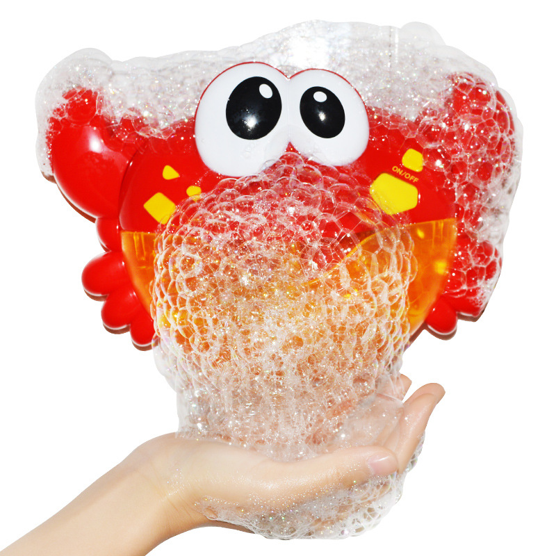 Qwz Bubble Krabben/kikker Babybadje Speelgoed Grappig Bad Bubble Maker Zwembad Bad Zeep Machine Speelgoed Voor Kinderen Kids Geschenken
