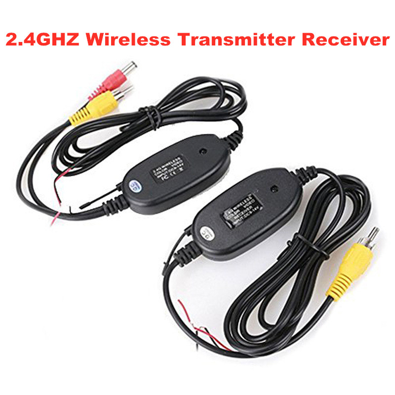 Rear View Camera 2.4Ghz Wireless RCA Video Transmitter & Receiver Cable For Car Rearview Monitor Reverse Backup Camera DVD