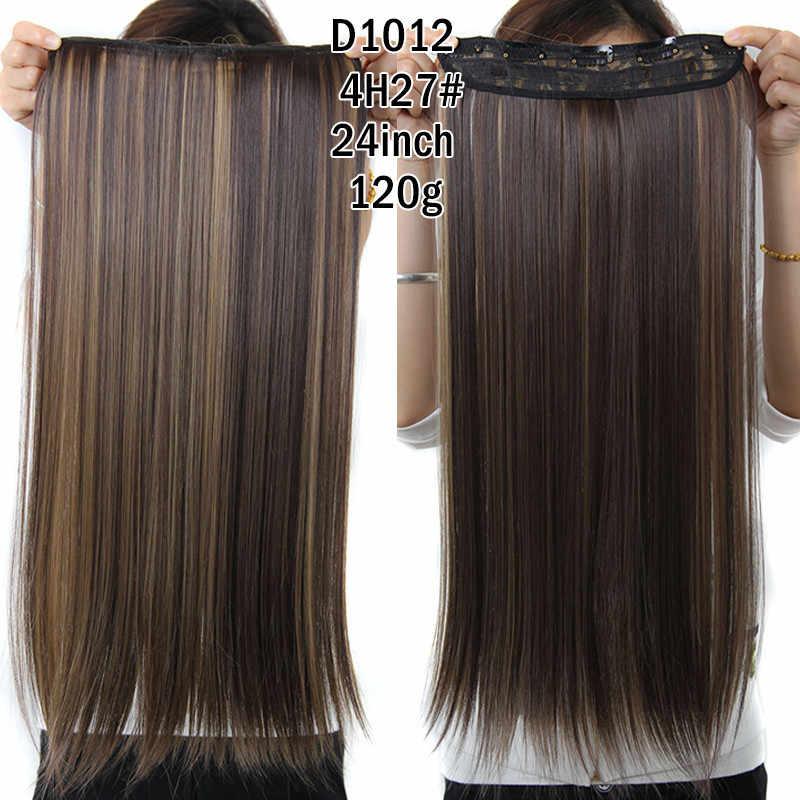 MSIWIGS прямые длинные волосы наращивание 5 заколки для волос наращивание 24 дюйма синтетические волосы блонд накладные волосы 613 #