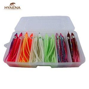 Hyaena/набор рыболовных приманок, 24 шт., 11 см, Мягкие Силиконовые юбки для джигов, искусственные приманки, смешанные цвета