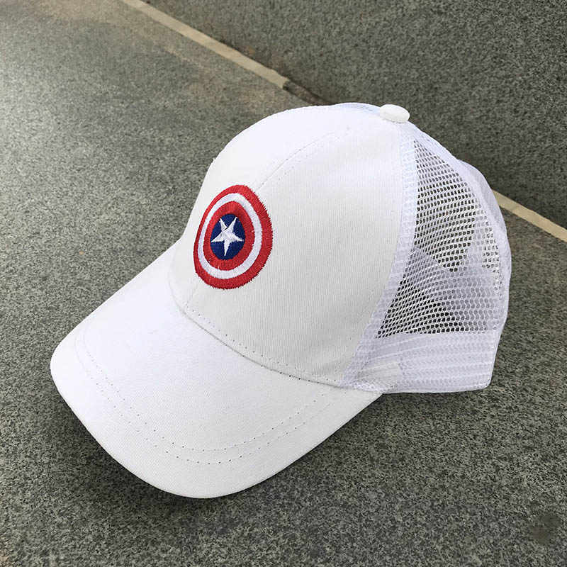 7e32a6617d2cb ... 2018 Children Mesh Child Baseball Cap Hot Summer Captain America kids  Sun Hat Boys Girls snapback ...