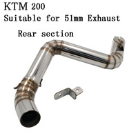 51mm Inlet Motorcycle Exhaust Pipe Set Moto For KTM 200 Duke Akrapovic Motorbike Exhaust System End