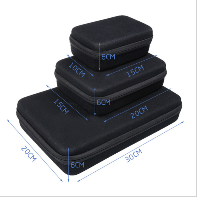 Tekcam Portable Action Camera Case Storage Box Bag for Gopro hero4 hero 5/6 SJ4000 SJ5000 SJ7000 Xiaomi Yi 4k Gitup2 Soocoo C30