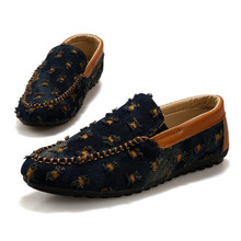 Summer casual men shoes lazy shoes Korean youth fashion denim espadrilles loafers zapatos hombre