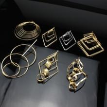все цены на 1pair Fashion Gold Metal Tassel Earrings for Women Pendant Geometric Dangle Earrings Simple Fashion Jewelry Accessories онлайн