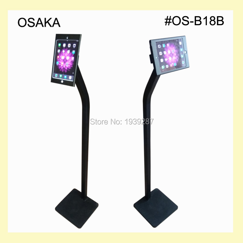 for mini ipad floor stand security display kiosk support with lock - Ipad Floor Stand