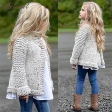 TELOTUNY/Детские свитера; Одежда для маленьких девочек; вязаный свитер на пуговицах; кардиган; пальто; топы; коллекция года; Прямая поставка; ST22