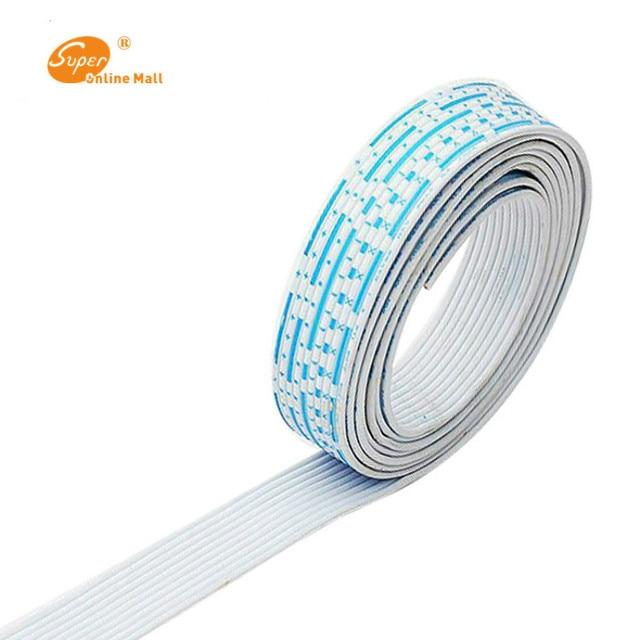 26 AWG UL 2468 PVC 7/0. 16TS Flachband Draht Mit Rot Weiße Farbe ...