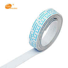 1m 26 AWG UL 2468PVC 7/0.16TS Flat Ribbon Wire With Red-White Color Diameter 1.3mm Electronic Conductor Flexible Stranded