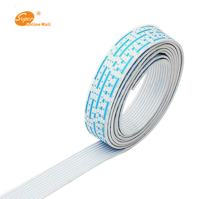 26 AWG UL 2468 PVC 7/0.16TS Flat Ribbon Wire With Red White Color ...