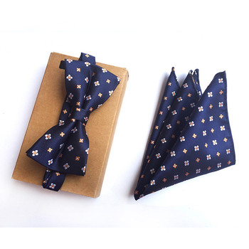 Bowtie Tie Set Mens Tie Pocket Square Handkerchief Fashion Silk Polyester Paisley Printed Tie Business Wedding Bowtie cartoon fish doodle print tie bowtie and handkerchief