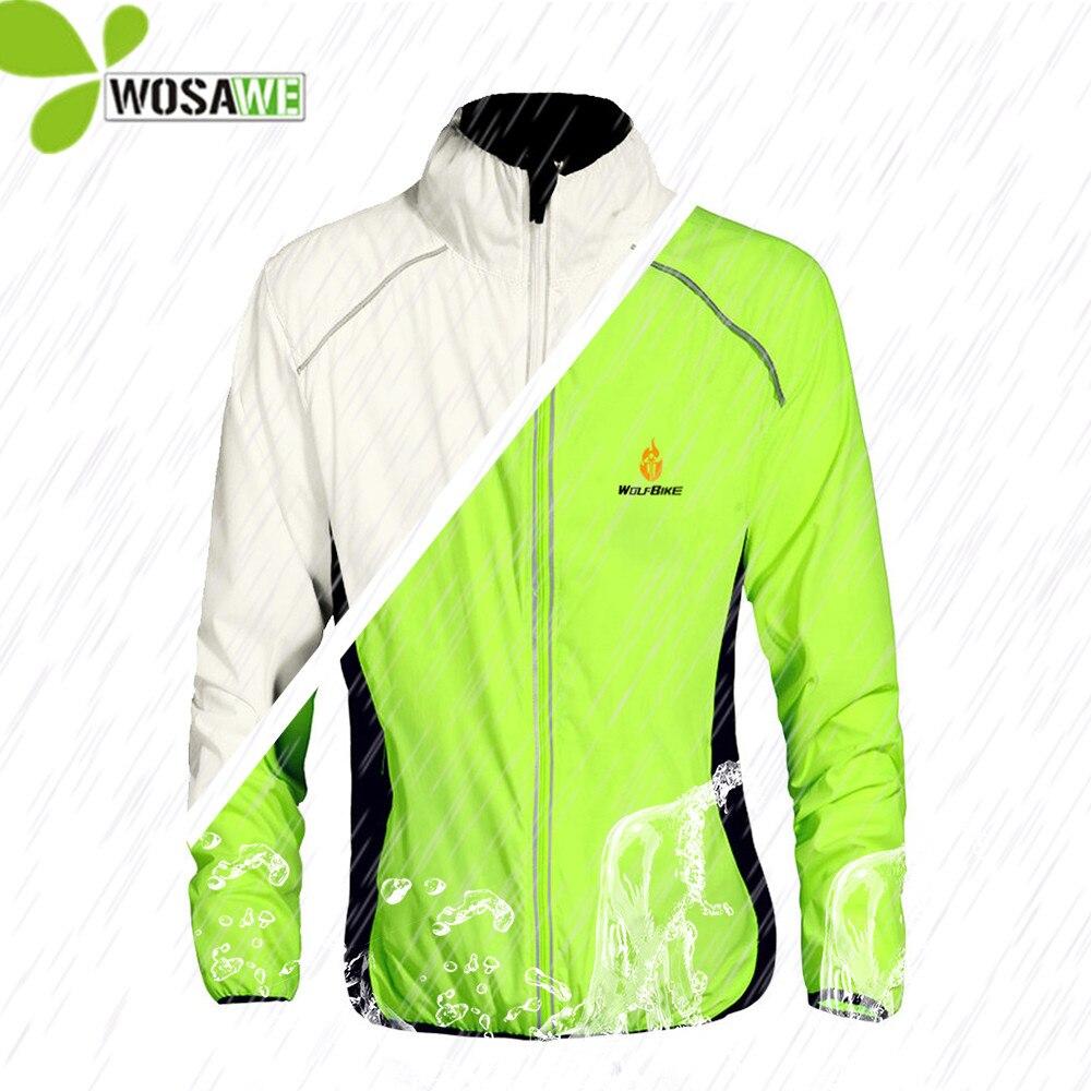 WOSAWE Tour de France Reflektierende Radfahren Jacken Zyklus Weste Wind Mantel Fahrrad MTB Bike Tragen Wasser Abweisend Fahrt Windjacke Männer