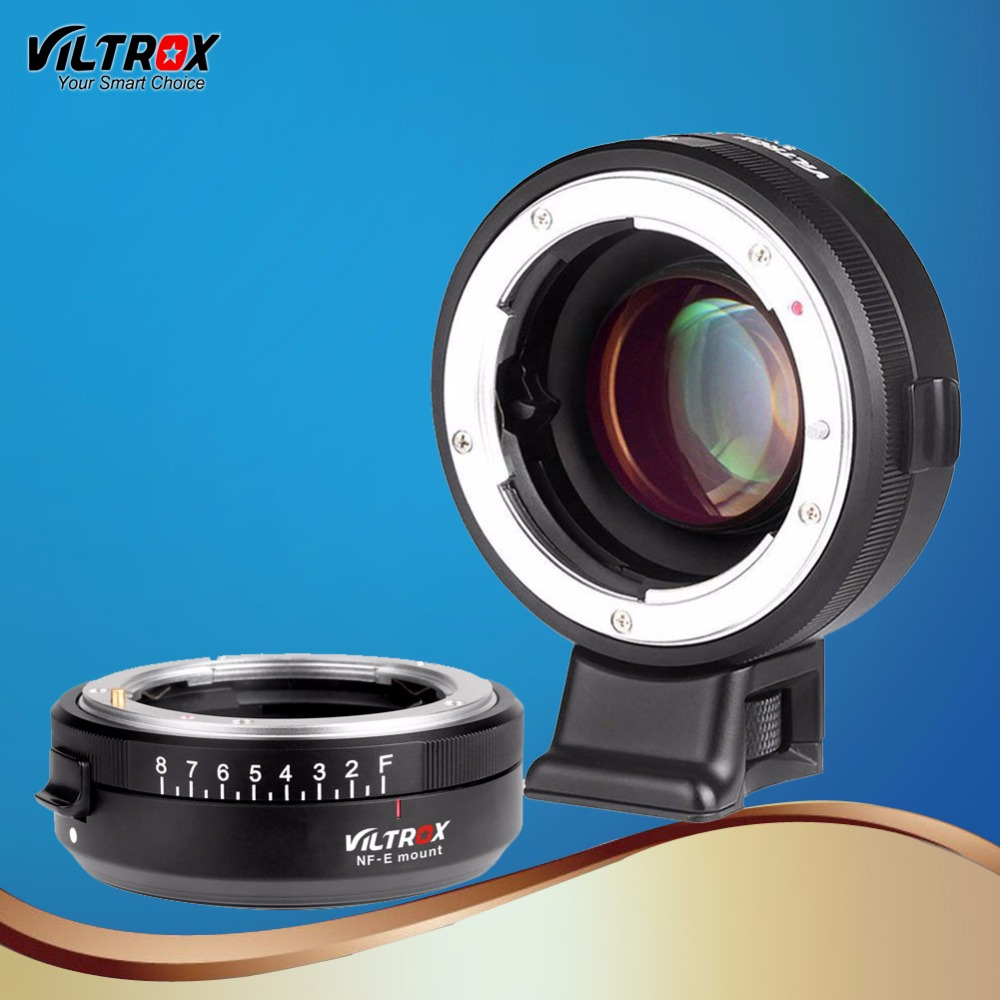 Viltrox Focal Reducer Speed Booster Lens Adapter Turbo Aperture Ring for Nikon F Lens to Sony A9 A7III A7S A6500 A6300 Camera кольцо kipon adapter ring m42 nikon f