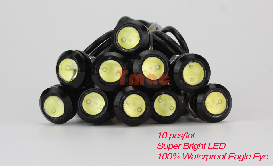 Eagle Eye 10pcs/lot Car styling 18mm led car light Parking Lights Daytime Running Light Waterproof working DRL Fog lamp Source