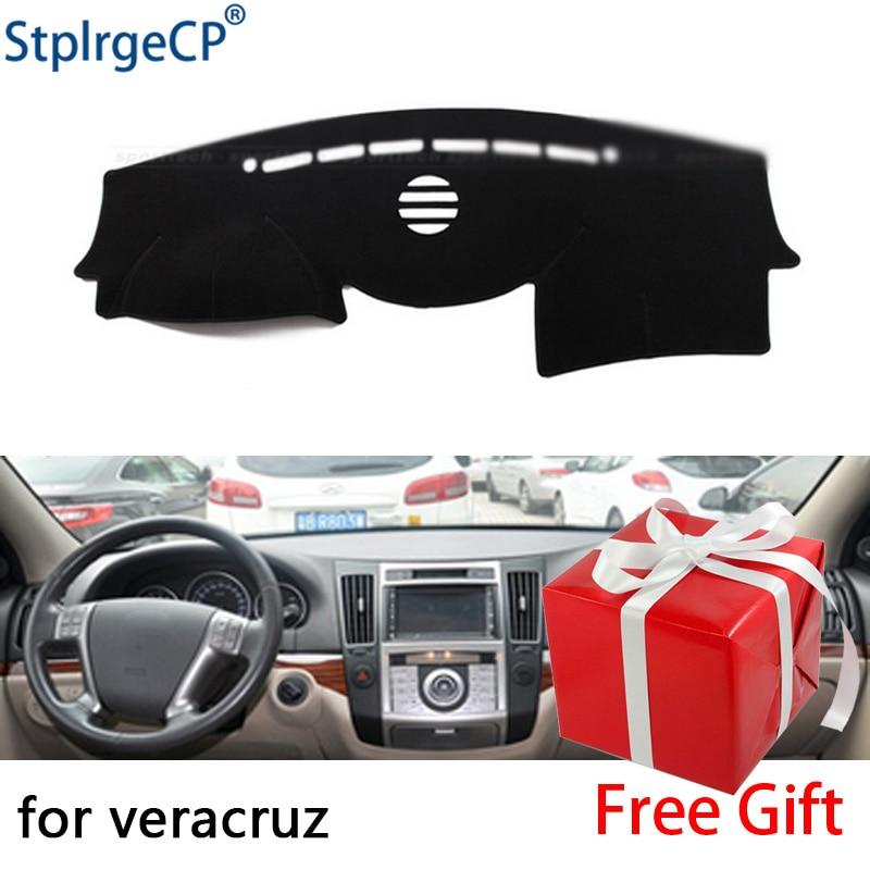 for Hyundai Veracruz ix55 2006-2015 dashboard mat Protective pad Shade Cushion Pad interior sticker car styling accessories