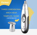 New hotSelling Kemei KM-502 Rechargable 2 In 1 Electric Shaving Nose And Ear Hair Trimmer Beard Hair Shaver Face Care Device